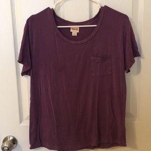 Purple short-sleeve Mossimo tee